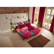 Bettwäsche 140/200cm Multicolor - Rot/Multicolor, MODERN, Textil