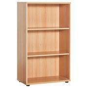 Aktenregal Serie 1400 B: 65,1 cm Buche Dekor - Buchefarben/Schwarz, Basics, Holzwerkstoff (65,1/110,9/34,5cm) - MID.YOU