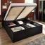 Doppelbett inkl. Bettkasten 180x200 Eliza, Schwarz Samt - Schwarz, ROMANTIK / LANDHAUS, Textil (180/200cm) - Carryhome