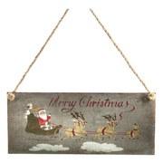 Dekoschild Merry Christmas - Grau, KONVENTIONELL, Metall (30,5/13cm)