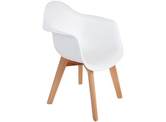 Detská Stolička Bambino - biela/farby buku, Moderný, drevo/plast (42/57,5/30cm) - Ombra