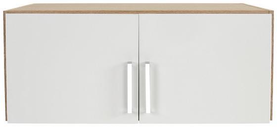 Nástavec Na Skříň Ku 2 Dv.skříni Wien - bílá/barvy dubu, Konvenční, dřevěný materiál (91/39/54cm)