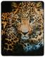 Kuscheldecke Leopard - Sandfarben/Schwarz, Textil (130/160cm)