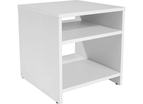 Odkládací Stolek Luca Lct01 - bílá, Moderní, kompozitní dřevo (40/40/37cm)