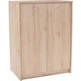 Komoda 4-you Yuk07 - bílá/tmavě hnědá, Moderní, dřevěný materiál (74/111,4/34,6cm)