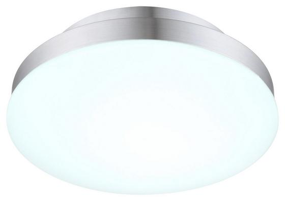 LED-Deckenleuchte Marina - Silberfarben/Opal, KONVENTIONELL, Kunststoff/Metall (25/8,3cm)