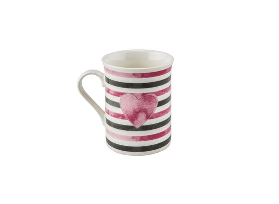 Kaffeebecher Mischella - Schwarz/Rosa, KONVENTIONELL, Keramik (7,8/9,8cm) - Luca Bessoni