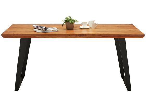 Jedálenský Stôl Herkules - čierna/farby akácie, Štýlový, kov/drevo (175/76/90cm)
