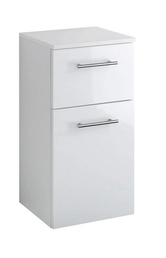 Unterschrank Blanco 35 cm Weiß - Weiß, MODERN, Holzwerkstoff (35/69/35cm)
