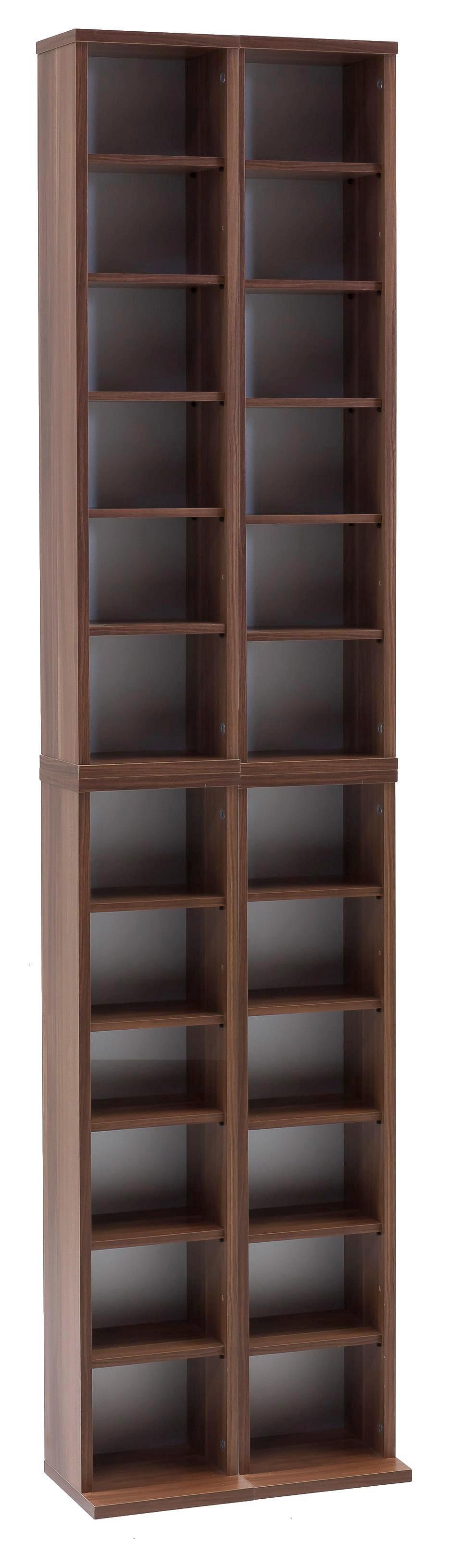 Schlichtes CD Regal in Holzdekor