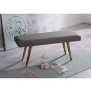 Sitzbank Salim B: 117 cm - Naturfarben/Grau, Natur, Textil (117/51/38cm) - Livetastic