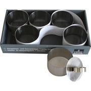 Vorspeisen und Dessertringe 6er Set - Edelstahlfarben, LIFESTYLE, Metall (30/5,5/16,3cm) - Collini