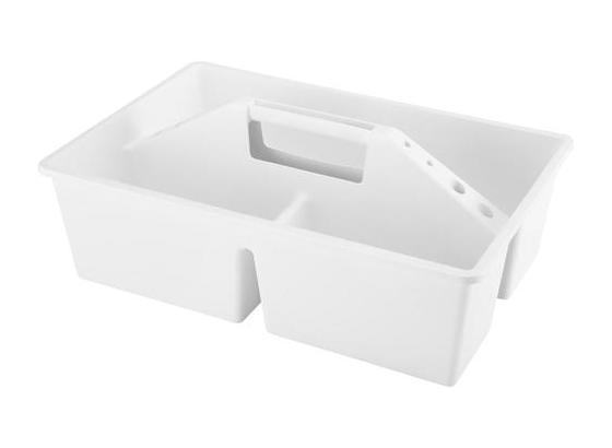 Úložný Box Clean - biela/svetlosivá, plast (38,5/25,5/11,5cm)