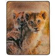 Kuscheldecke Baby Löwen - Sandfarben, Textil (130/160cm)
