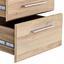 Rollcontainer Mindi ca. 41/55/41cm Bianco Eiche Dekor - Eichefarben, MODERN, Holzwerkstoff/Kunststoff (40,8/54,8/41,3cm)
