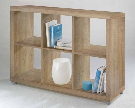 Regál Aron 6 Dub - farby dubu, Moderný, drevený materiál (117,2/83,4/35cm)