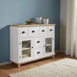 Komoda Nicolo - farby dubu/biela, Moderný, kov/drevo (105/80/34cm) - Modern Living