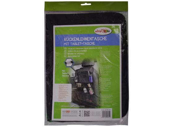 Rückenlehnentasche mit Tablet-halterung - Schwarz, Basics, Kunststoff/Textil (31,5/46/2cm)