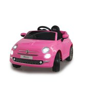 Kinderauto Ride-On Fiat 500 Pink - Pink/Silberfarben, Basics, Kunststoff (111/65/50cm)