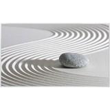 Infrarot Heizung 580 W Sand 100x60 cm, inkl. Thermostat - Weiß/Grau, Trend, Metall (100/60/2cm)