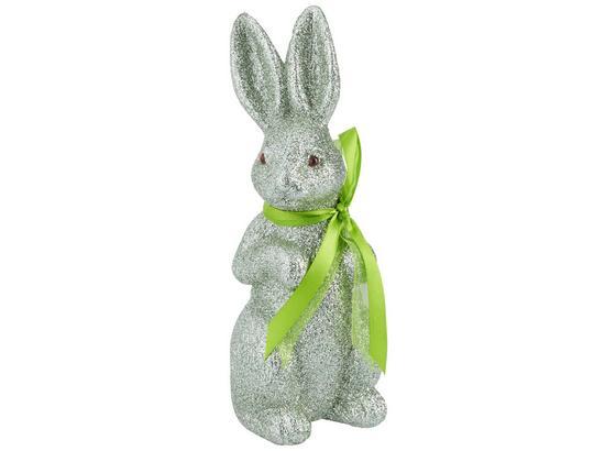 Zajíc Dekorační Gustaf - mátově zelená, Basics, umělá hmota (23cm)