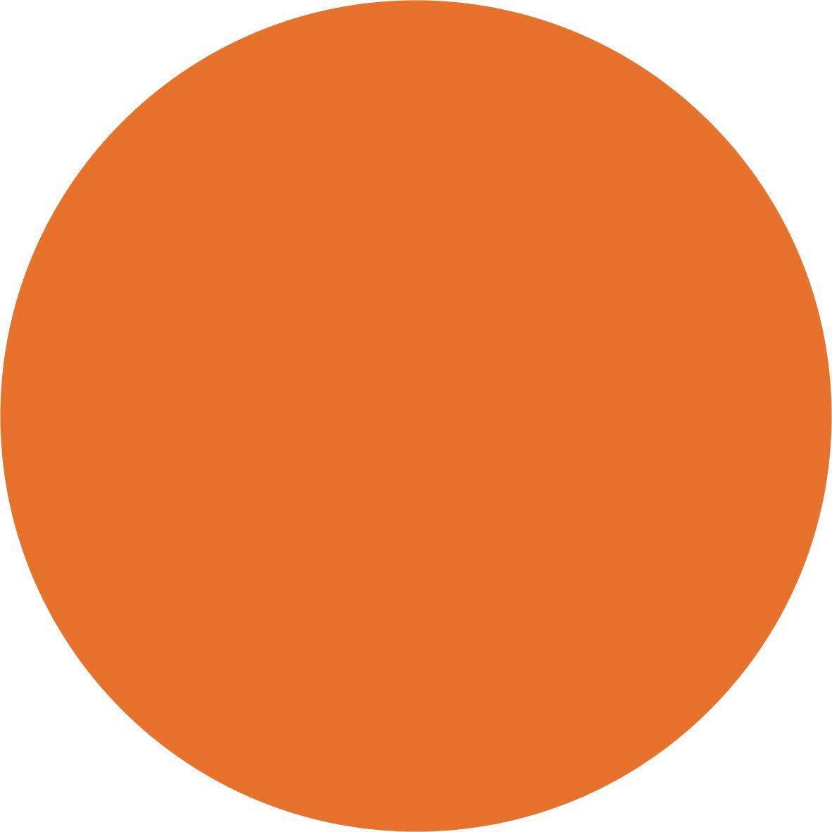 Acryl-Glanzlack Reinorange - Orange, KONVENTIONELL (25cm) - GEBOL