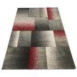 Webteppich Palermo 80/150 - Rot/Grau, MODERN, Textil (80/150cm)