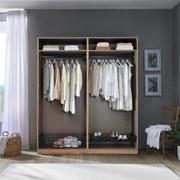 Kleiderschrank Offen 182,2cm Unit, Eiche Dekor - Eichefarben, MODERN, Holzwerkstoff (182,2/210/56,5cm) - Ombra
