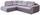 Wohnlandschaft in L-Form Carisma 210x300 cm - Schwarz/Grau, MODERN, Holz/Textil (210/300cm) - Ombra