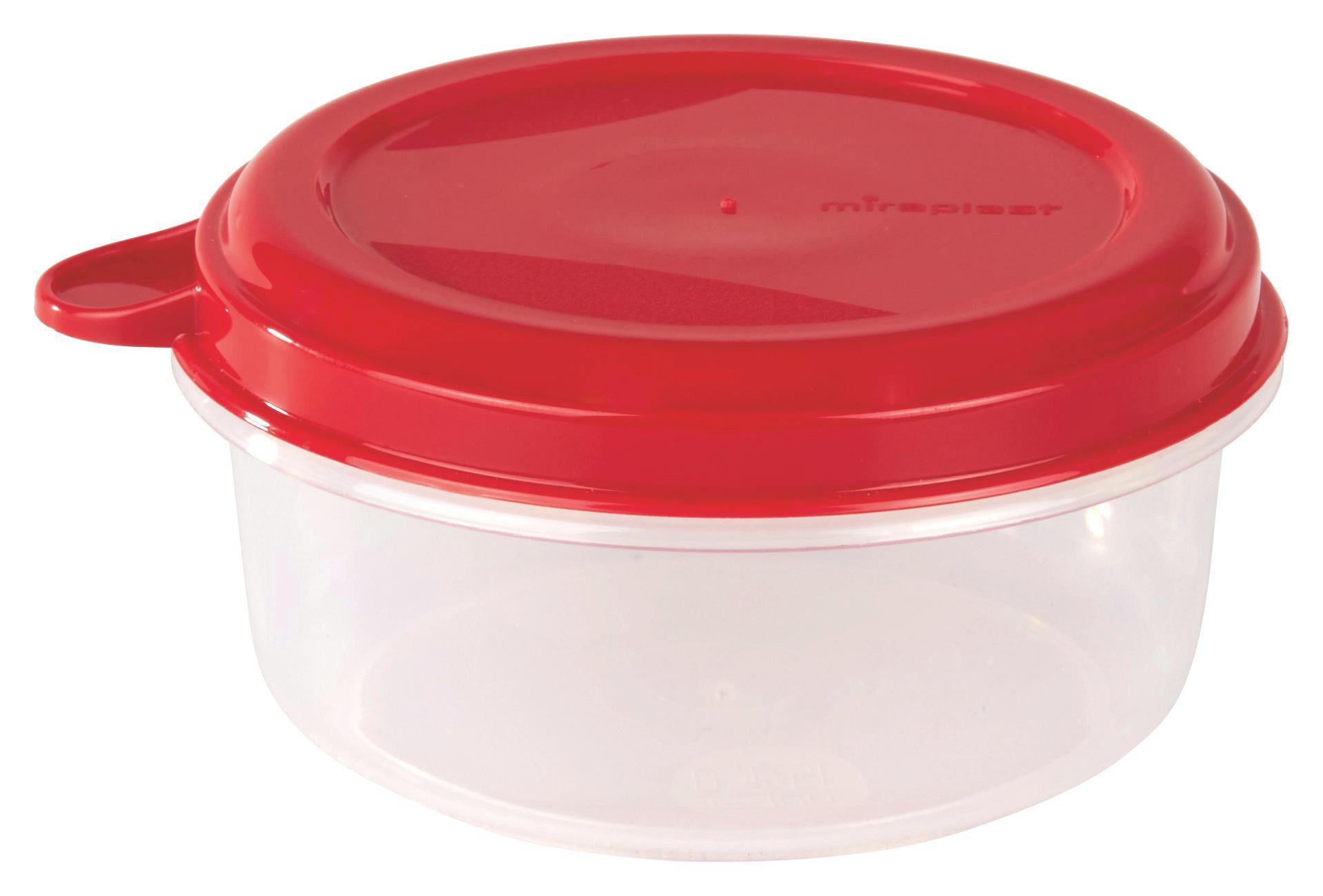Frissentartó Doboz Color - natúr színek/piros, konvencionális, műanyag (14/6cm)