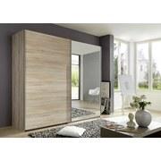 Skříň Ernie Dekor Dub - barvy dubu, Moderní, dřevěný materiál/sklo (225/210/65cm)