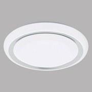 LED-Deckenleuchte Frantoio Ø 28 cm - Chromfarben/Weiß, MODERN, Kunststoff/Metall (28/6cm)