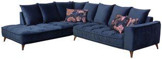 Sedací Souprava Belavio - tmavě modrá, Moderní, textil (245/288cm)