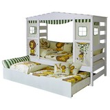 Spielbett Lio 90x200 cm Weiß/ Safari - Multicolor/Weiß, MODERN, Holz (90/200cm) - Livetastic