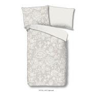 Bettwäsche Lace 140/200cm Weiß/Sandfarben - Sandfarben/Weiß, Basics, Textil