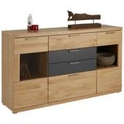 Komoda Sideboard Bianco - barvy dubu/barvy grafitu, Konvenční, dřevo/dřevěný materiál (165/94/42cm) - ZANDIARA