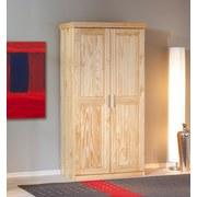 Drehtürenschrank Massiv 95cm Leon, Kiefer - Naturfarben, LIFESTYLE, Holz (95/190/55cm) - Carryhome