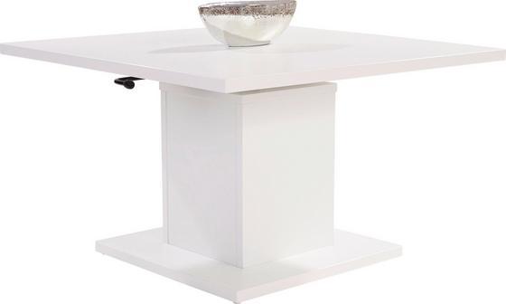 Dohányzóasztal Bern - Fehér, modern, Faalapú anyag (80/51-70/80cm)