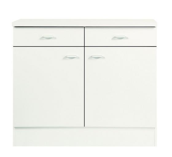Kuchyňská Spodní Skříňka Speed  Us 100-50 W - bílá, Moderní, dřevěný materiál (100/85/47cm)