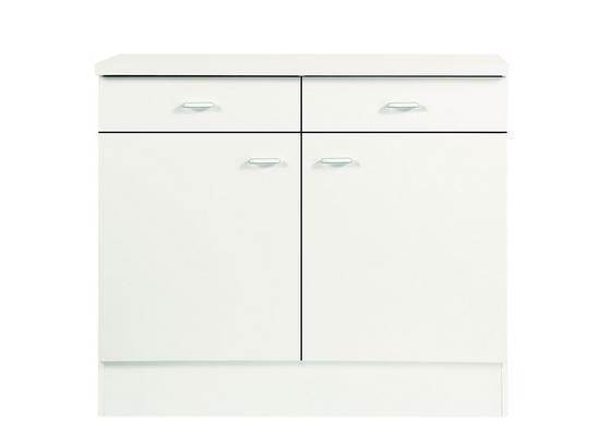 Küchenunterschrank Speed  Us 100-50 W - Weiß, MODERN, Holzwerkstoff (100/85/47cm)
