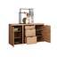 Sideboard mit Soft-Close B 167,3cm Nyon, Eiche Dekor - Eichefarben/Schwarz, MODERN, Holzwerkstoff (167,3/90,9/40,5cm)