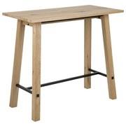 Bartisch Stockholm B: 60 cm Eichefarben - Eichefarben/Schwarz, Design, Holz/Metall (120/60/105cm) - MID.YOU