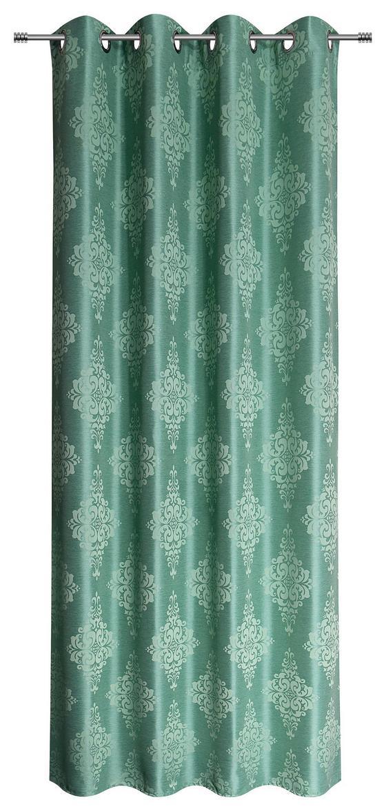 Ösenvorhang Helen - Mintgrün, MODERN, Textil (140/245cm) - Luca Bessoni