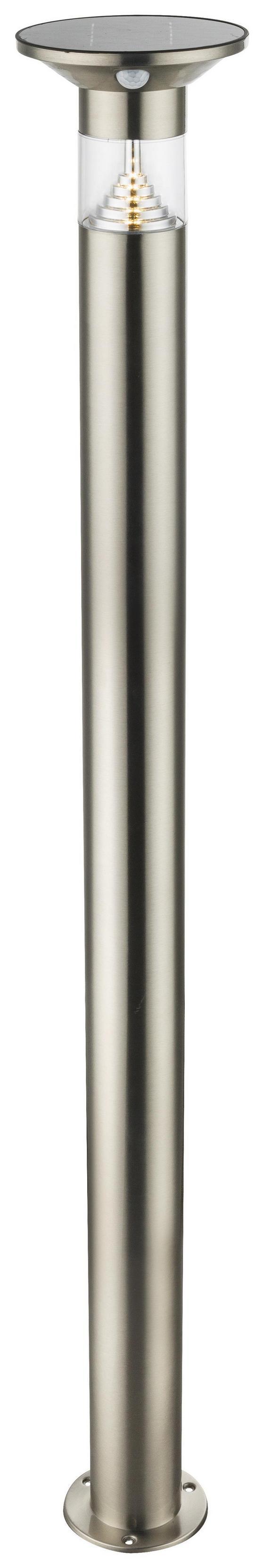 LED-solarleuchte Clea - Klar/Edelstahlfarben, MODERN, Kunststoff/Metall (16/136cm)