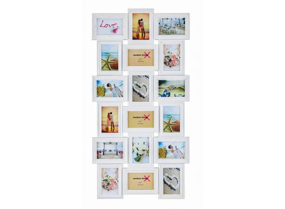Rám Na Obrazy Vanessa - bílá, Romantický / Rustikální, papír/umělá hmota (52/102,5/2,3cm) - Mömax modern living