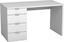 Psací Stůl Livona Ii - bílá, Moderní, dřevěný materiál (120/75/60cm)