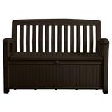 Gartenbank Kunststoff 2-Sitzer Piato mit Truhenfunktion - Braun, MODERN, Kunststoff (138,6/88/63,5cm)