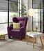 Křeslo Chandler - fialová, Moderní, kov/dřevo (95/109/97cm) - Ombra
