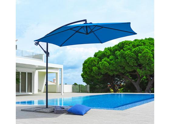 Závesný Slnečník Gap - modrá/antracitová, Moderný, kov/textil (300/245cm) - Mömax modern living