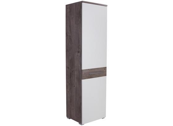 Skříň Šatní Monza New - bílá/barvy dubu, Moderní, kompozitní dřevo (60/196/36cm)